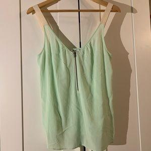 Paige Mint Green Cotton Zipper Tank NWT S